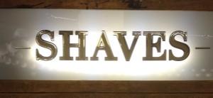 Shaves at Tommy Guns