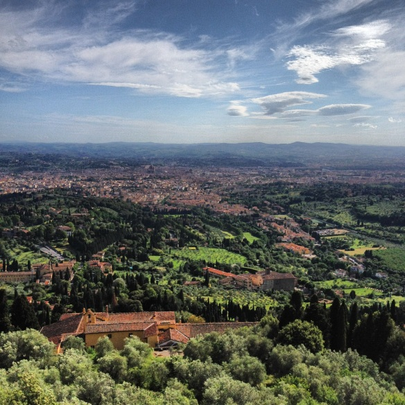 Fiesole views down to Florence (c) Alan Greenhalgh