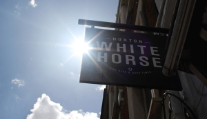 Hoxton White Horse sign