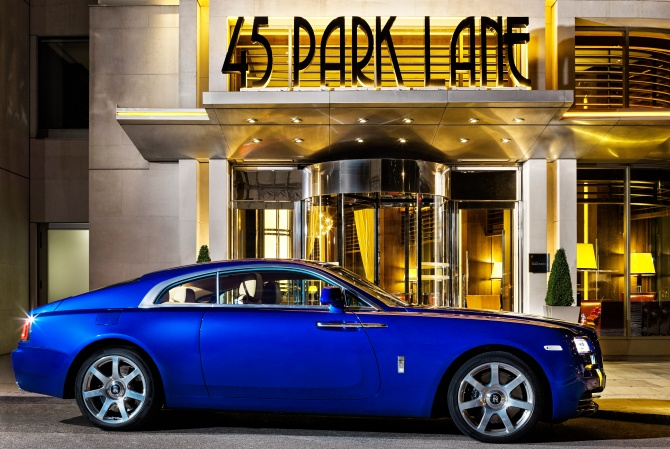 45 Park Lane Penthouse Suite Rolls Royce Wraith Service view 1 (high res)