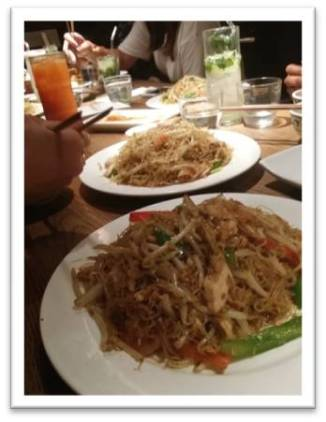 Singapore Noodles at Cha Cha Moon Kingly Court StreetEat Carnaby