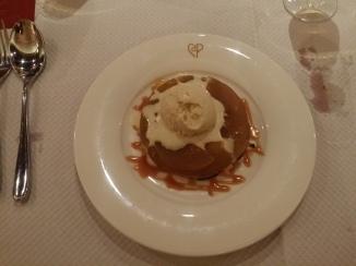 Tarte Tatin served with vanilla Ice cream £5.50
