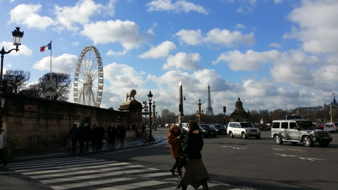 Paris from the crossing on Rue Rivoli