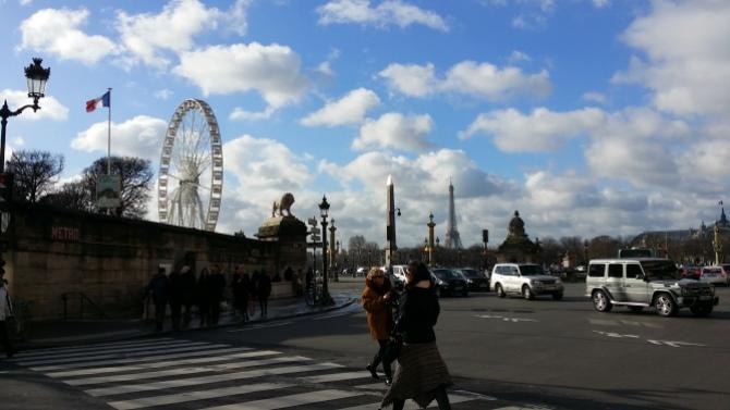 Paris from the crossing on Rue Rivoli
