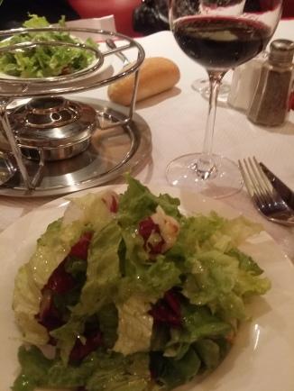 Green salad at Chez Boubier