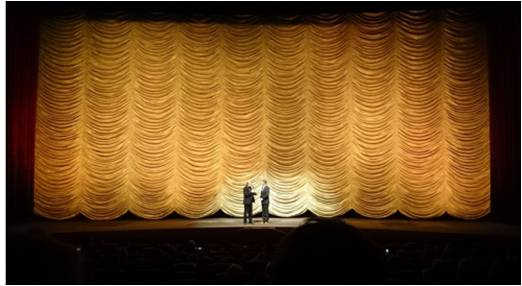 """Panorama director Wieland Speck and director Hal Hartley introducing the movie """"Ned Rifle"""