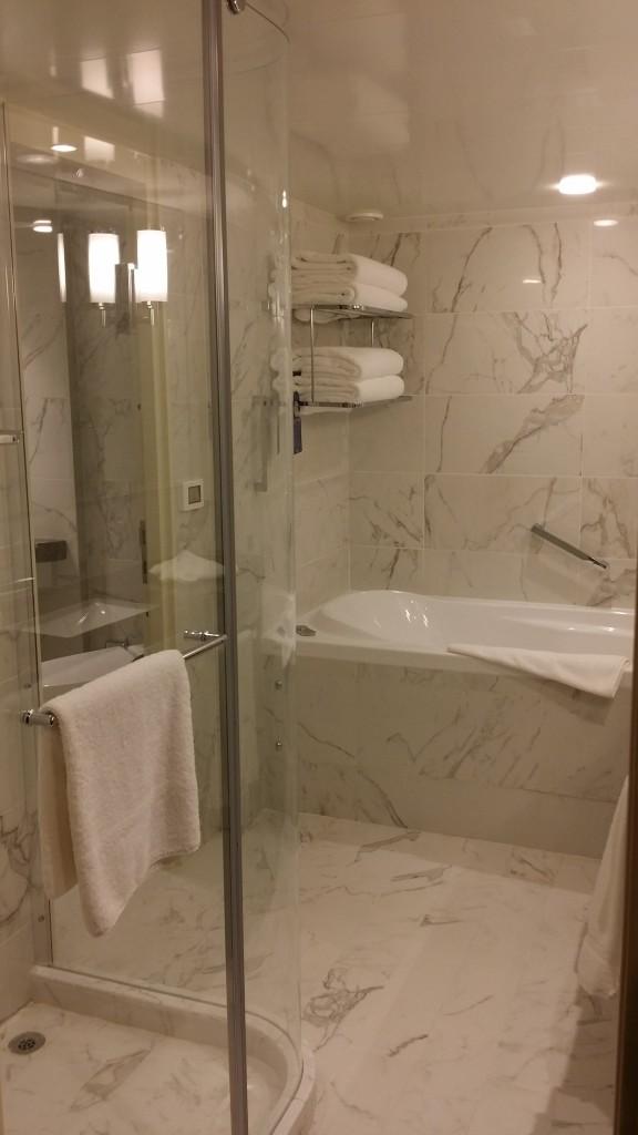 Bathroom of a suite on Britannia