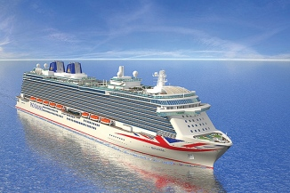 Britannia will sail on her maiden voyage in March 2015 © P&O Cruises