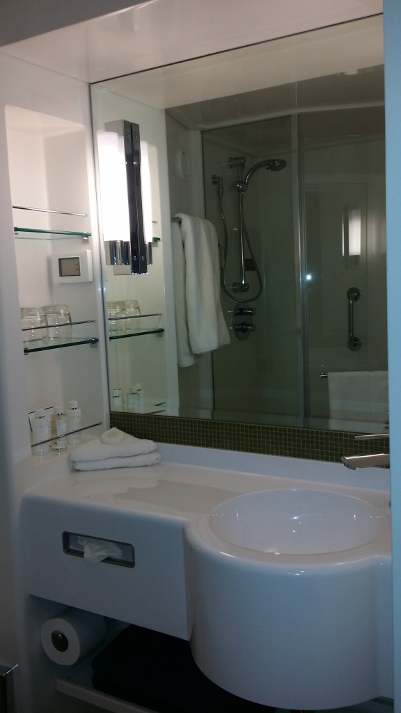 F Deck cabin bathroom aboard Britannia