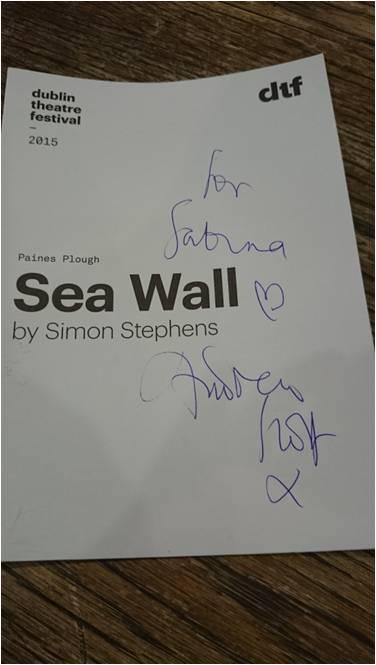 Sea Wall by Simon Stephens at Dublin theatre festival 2015