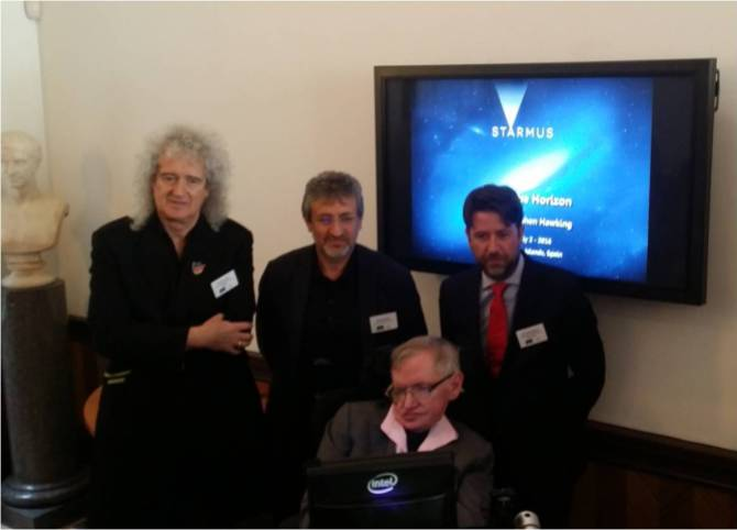 London  April 2015 Stephen Hawking